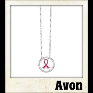 🎨👼🏽🆕️ Breast Cancer Ribbon Necklace